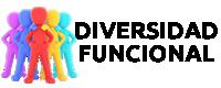 Logotipo de la sección Diversidad Funcional con letras negras
