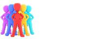 Logotipo de la sección Diversidad Funcional con letras blancas