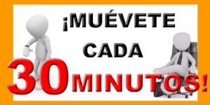 ¡Muévete cada 30 minutos!