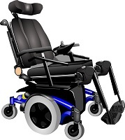 Silla de ruedas eléctrica adaptada